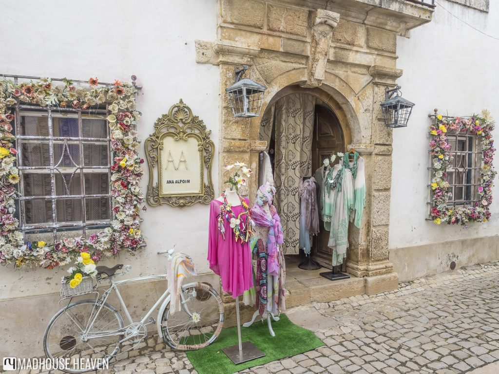 Shop selling clothing in Óbidos, Portugal
