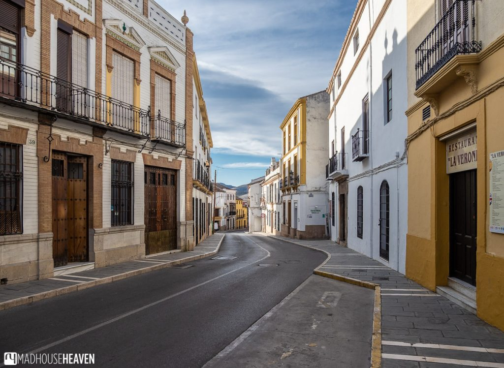 The main thoroughfare of Ronda, totally devoid of both cars and pedestrians early in the morning