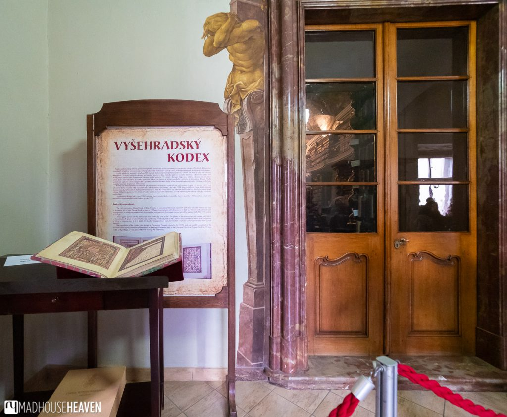 A copy of a medieval manuscript, illustrated with pictures, for visitors to touch and explore
