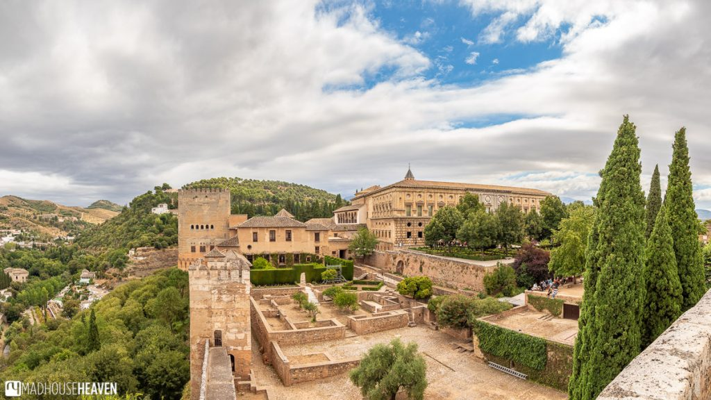 The Court of Machuca and the Palacio de Carlos V seen from the walls of the Alcazaba