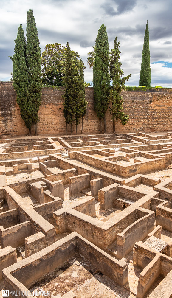 The maze-like structure of the Arms Square in the Alcazaba fortress in Alhambra