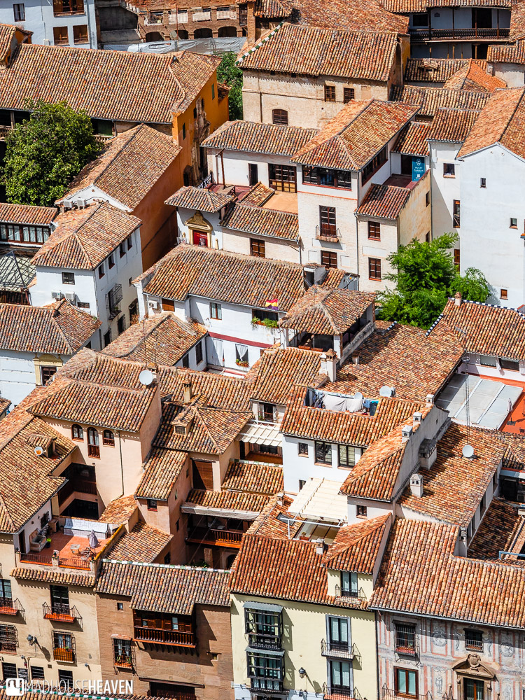 The roofs of the Old Town of Granada seen from the walls of the Alcazaba