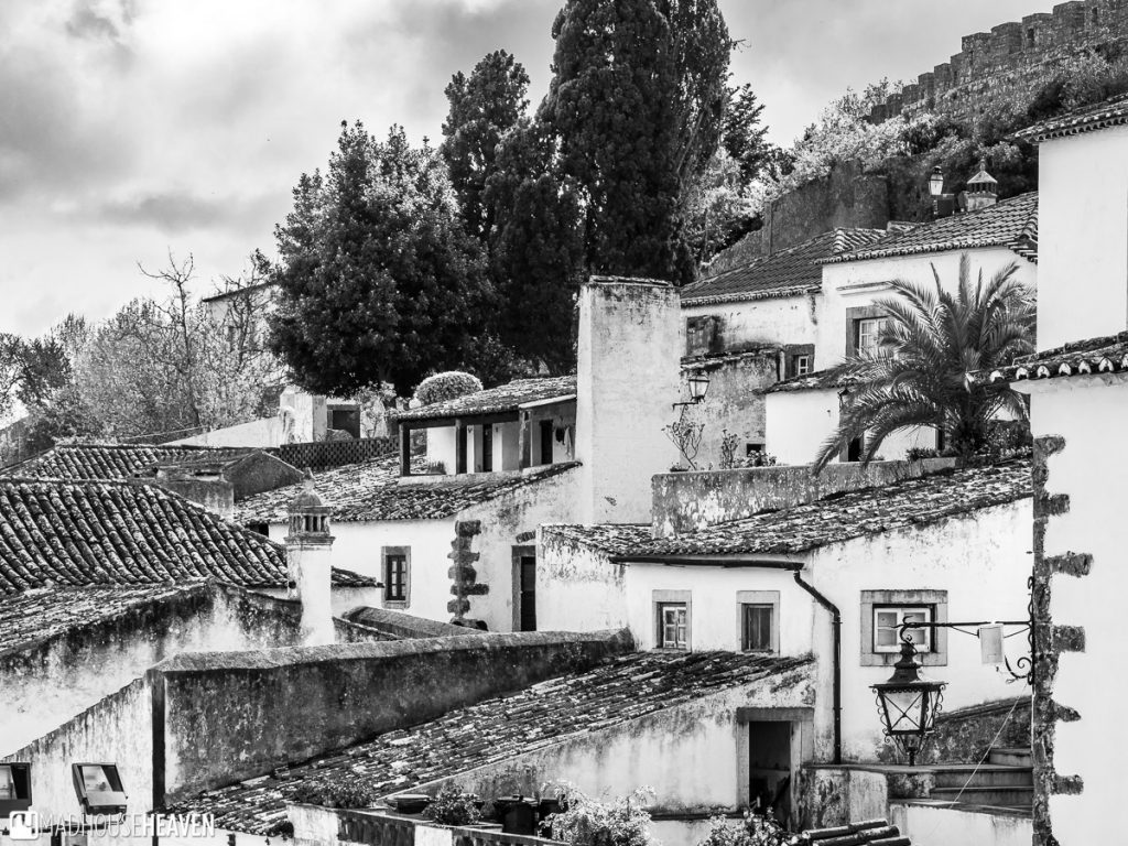 Medieval rooftops in the Portuguese town of Óbidos