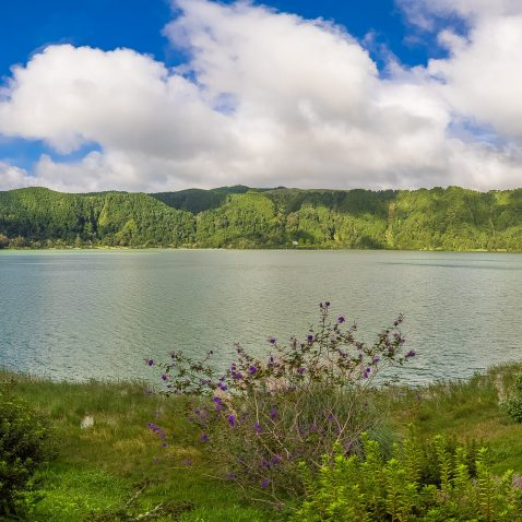 Furnas Lake, on Sao Miguel, the Azores, Portugal