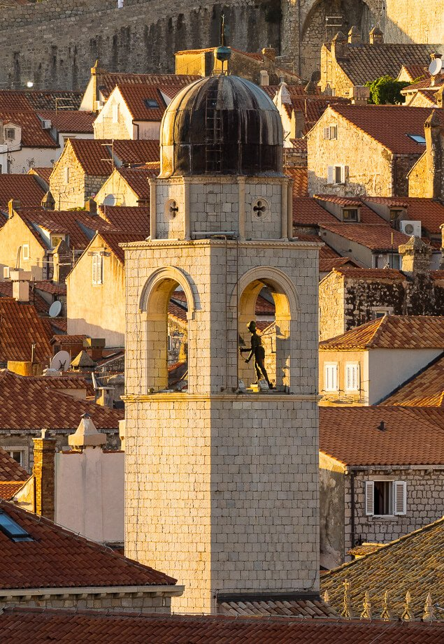 City Bell Tower at Sunset, Dubrovnik, Croatia