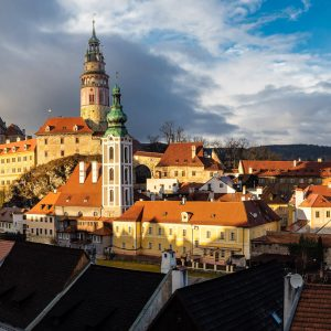 Panorama of Cesky Krumlov, with its Castle