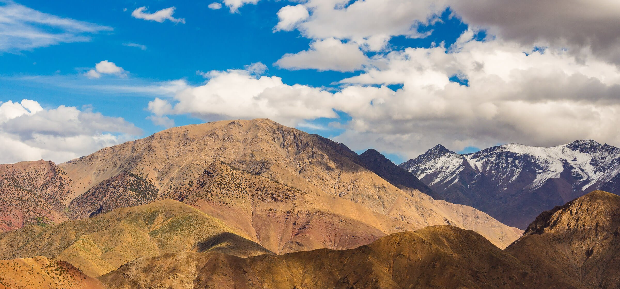 Clouds Over the Atlas Mountains' Peaks, Morocco