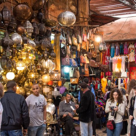Souk Market in Marrakesh, Morocco